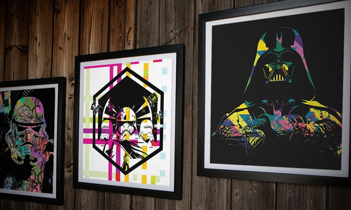 """Graff.io: 10""""x10"""" or 15""""x15"""" Framed Sci-Fi Canvas Prints from Graff.io (Up to 91% Off)"""