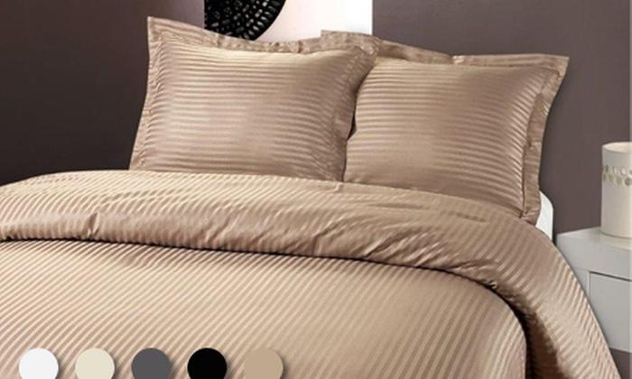 100 taie oreiller paris satin de 400tc coton gyptien satin de mode ensemble de literie. Black Bedroom Furniture Sets. Home Design Ideas