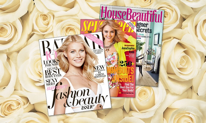 Two Magazine Subscriptions for Mother's Day: $10 for 2 Magazine Subscriptions (Up to $30 List Price). 13 Titles Available, Including ELLE & Seventeen. Free Shipping.