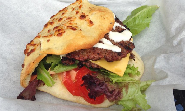 Rockfire Grill - Meredith Parkwood: $12 for $20 Worth of Burgers, Sandwiches, and Pizza at Rockfire Grill