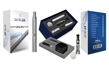 Ikon Vaporizer Kit for Dry Herbs, E-Liquids, and Waxy Concentrates