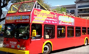 City Sightseeing San Antonio: Double-Decker Bus Tour for Two, Four, Six, Ten, or a Family of Five from City Sightseeing San Antonio (Up to 57% Off)