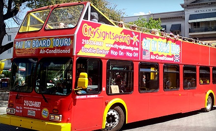 Double-Decker Bus Tour for Two, Four, Six, Ten, or a Family of Five from City Sightseeing San Antonio (Up to 57% Off)