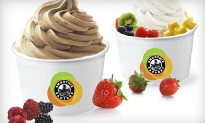Smoothie Factory - Portage: $10 for $20 Worth of Frozen Yogurt at Smoothie Factory in Portage