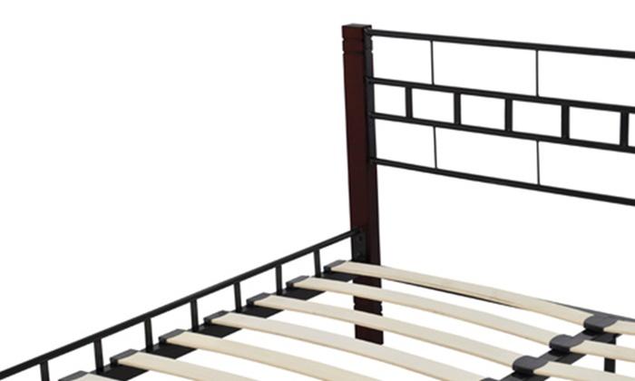 cadre de lit double groupon. Black Bedroom Furniture Sets. Home Design Ideas