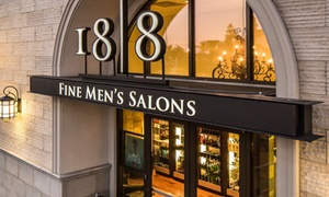 18|8 Fine Men's Salons: Men's Haircut with Optional Shave and Add-On Service at 18|8 Fine Men's Salons (49% Off). Two Options Available.