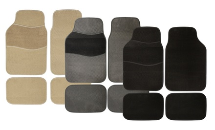 Pilot Automotive 4-Piece Car Mat Set. Multiple Colors Available. Free Returns.
