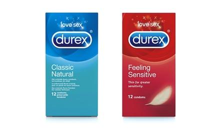 30, 60 of 120 Durex Condooms, keuze uit Feeling Sensitive of Classic Natural