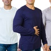 Men's Long Sleeve Pima Cotton Crew Necks