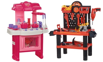 Kids' Playset: Workshop or Kitchen from £18.98