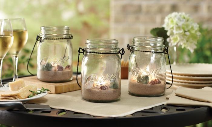 Hanging Mason Jar and Tealight Set (3-Piece)