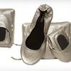 $15 for Gold Matte CitySlips Foldable Flats