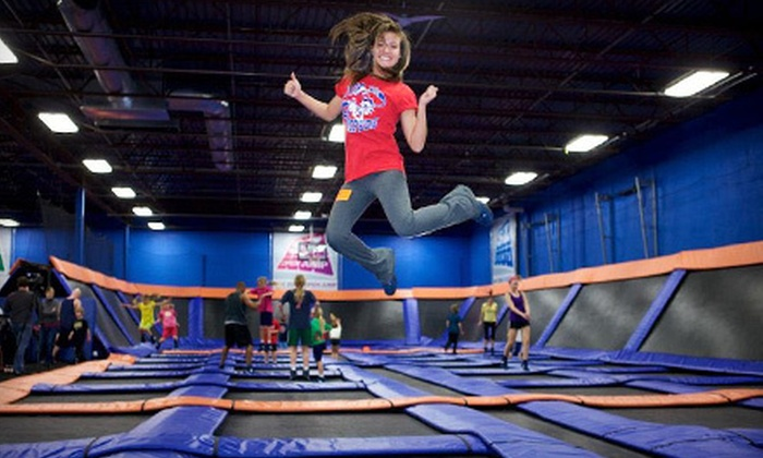 Sky Zone Riverside - Riverside : Two-Hour Open-Jump Sessions for Two on Tuesday–Friday or Saturday or Sunday at Sky Zone Riverside (Up to 58% Off)