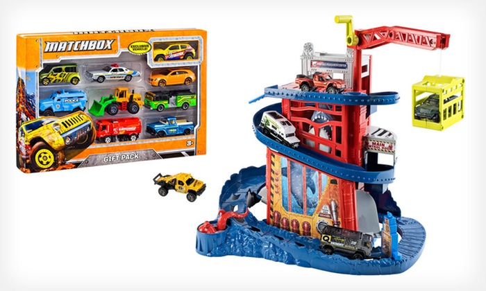Mattel Matchbox Play Set and Car Pack: $39 for a Mattel Matchbox Cliff Hanger Shark Escape Play Set and Cars ($44.78 List Price). Free Shipping and Returns.
