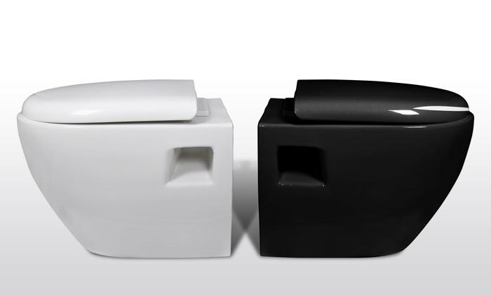 Vida xl deal du jour groupon - Pack wc suspendu noir ...