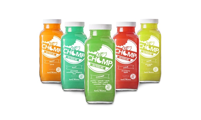 Chomp Eatery - Pico: One- or Three-Day Master Juice Cleanse with Cooler Bag and Dry Brush from Chomp Eatery (Up to 40% Off)