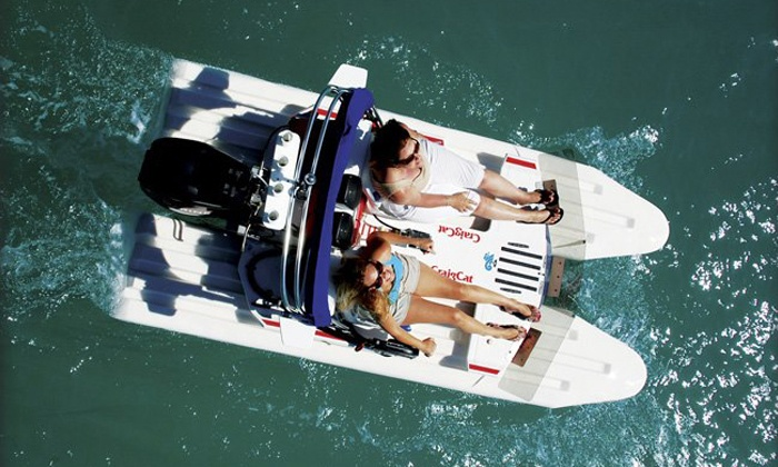Blue Water Powerboat Rentals - West Palm Beach: One- or Two-Hour CraigCat Boat Rental for Two from Blue Water Powerboat Rentals (Up to 46% Off)