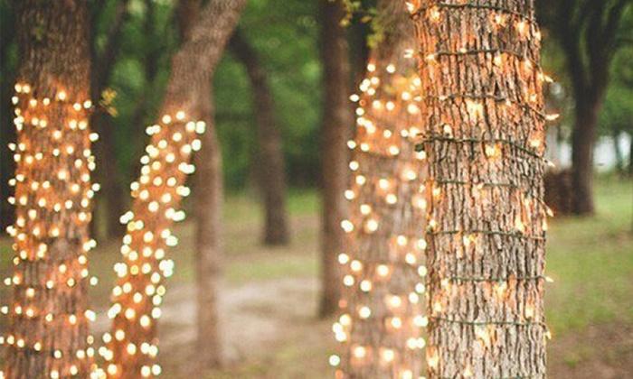 Luci natalizie da esterno energia solare luci di natale ad