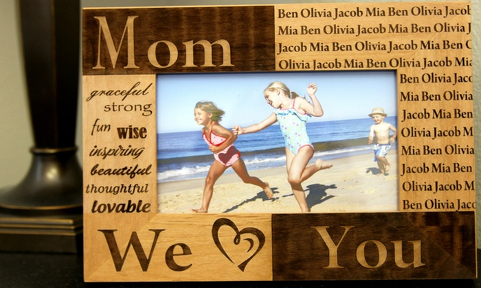 American Laser Crafts: One or Two Custom Laser-Engraved Photo Frames from American Laser Crafts (Up to 51% Off)