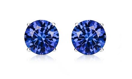 2.00 CTTW Tanzanite Stud Earrings by GemmaLuna (1 or 2 Pairs)