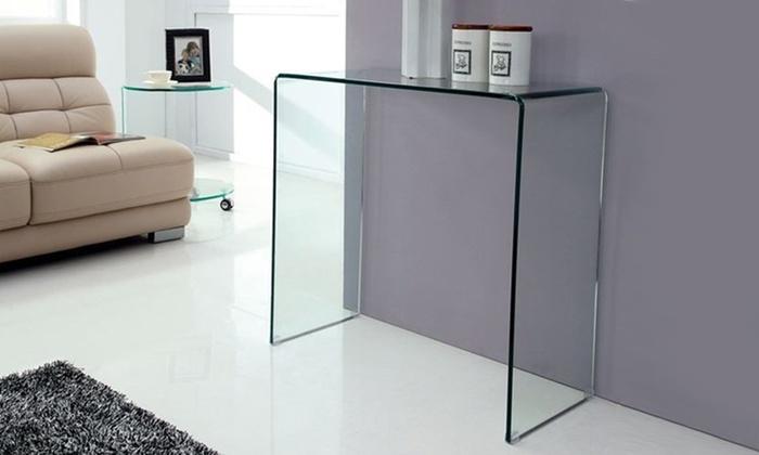 Consolle in vetro temperato groupon goods for Consolle in vetro