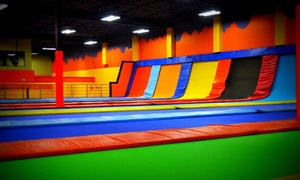 Jump City Family Fun Center: Two Hours of Open-Jump Time for One, Two, or Four at JumpCity Family Fun Center (Up to 44% Off)