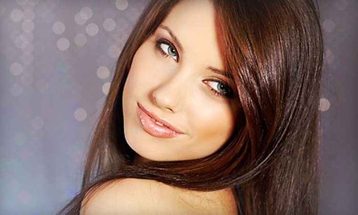 Amy K at Eve A Salon and Spa - Lincoln: One or Three Haircuts, or Partial Highlights with Haircut and Style from Amy K at Eve A Salon and Spa (Up to 64% Off)