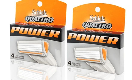 8-Pack of Schick Quattro Power Refill Cartridges