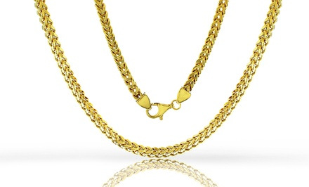 14K Yellow Gold–Plated Men's Franco Chain from $29.99–$59.99