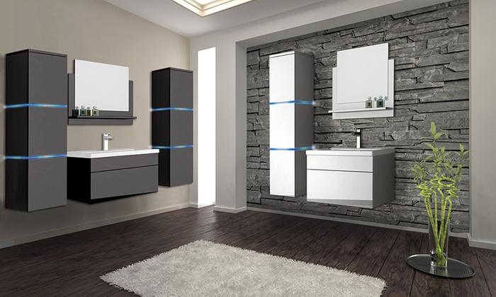 Bis zu 48% Rabatt Home Deluxe Badmöbel-Set | Groupon
