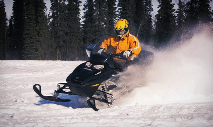 Alaska Backcountry Adventure Tours - Butte: ATV or Snowmobile Tour from Alaska Backcountry Adventure Tours (Up to 55% Off). Three Options Available.
