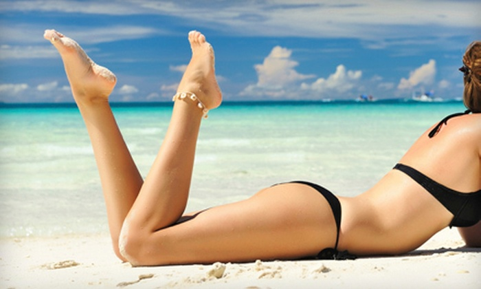 Sunn Du - Multiple Locations: One, Two, or Three Organic Spray Tans at Sunn Du (Up to 61% Off)