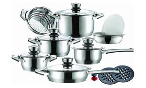 16-Piece Leopard Cookware Set
