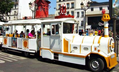 2 tickets adultes avec en option 1 ticket enfant dès 9 € valables pour le Petit Train de Montmartre