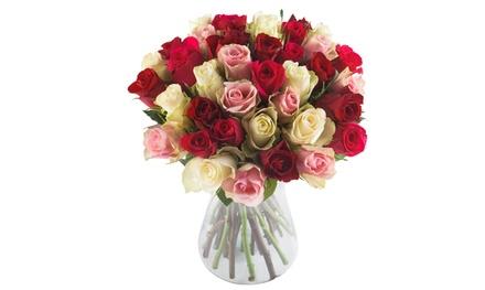 Pour votre Valentin(e), un bouquet de 40 roses à 29,90 € sur le site Les Fleurs de Nicolas (50% de réduction)