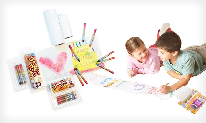 Doodle Roll Trial Pack: $25 for a Doodle Roll Trial Pack with Replacement Rolls and Crayons ($42 List Price). Free Shipping and Free Returns.
