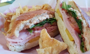 The Happy Cucumber: One Sandwich and Drinks at The Happy Cucumber. Yaya & Pappy's Goodie Shoppe (40% Off)