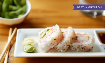 Sushi and Pan-Asian Cuisine at Kampai Sushi Bar (Up to 43% Off). Four Options Available.