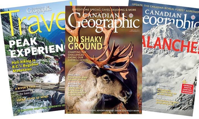 "Canadian Geographic - Barrie: C$14 for a One-Year Subscription to ""Canadian Geographic"" Magazine (C$32 Value)"