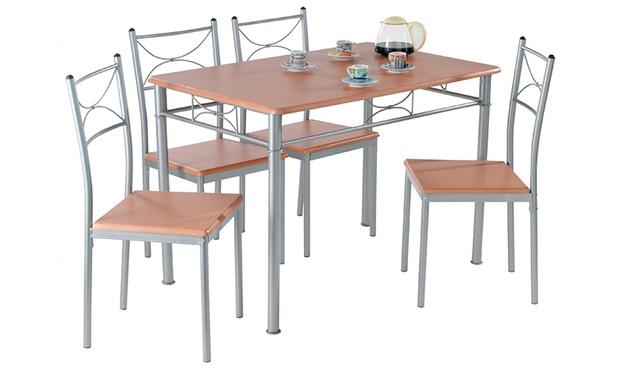 set tavolo più sedie da cucina | groupon shopping - Set Tavolo E Sedie Cucina