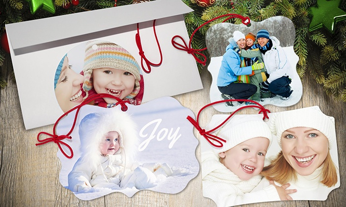 MailPix, Inc.: One Custom Snowflake Ornament or Four Custom Memento Ornaments from MailPix (Up to 84% Off)