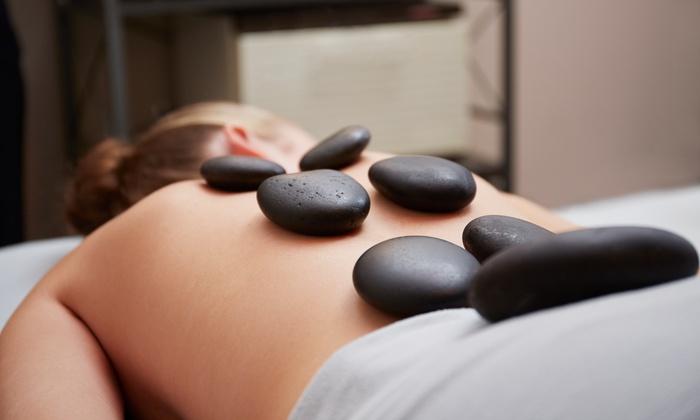 Sunsera Salons - Sunsera Salon: 60-Minute Hot-Stone Massage for Individual or Couple & Optional Infrared Sauna at Sunsera Salons (Up to 58% Off)
