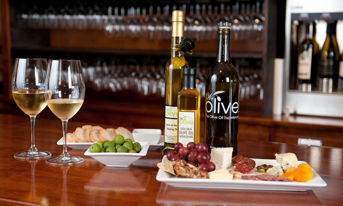 We Olive Walnut Creek - Walnut Creek: $29 for a Wine Tasting and Small Plates for Two at We Olive Walnut Creek ($60 Value)