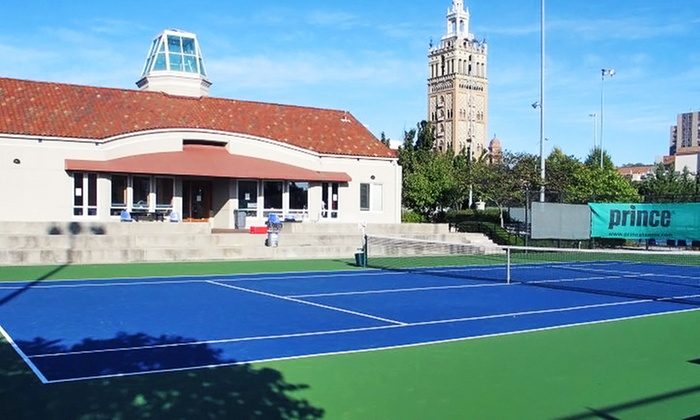 Plaza Tennis Center - Country Club: A One-Season Individual, Couple's, or Family Membership and Lesson at The Plaza Tennis Center (Up to 60% Off)