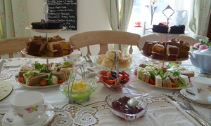 The Willows Vintage Tea Room: Afternoon Tea with an Optional Glass of Bubbly for Two at The Willows Vintage Tea Room (Up to 36% Off)