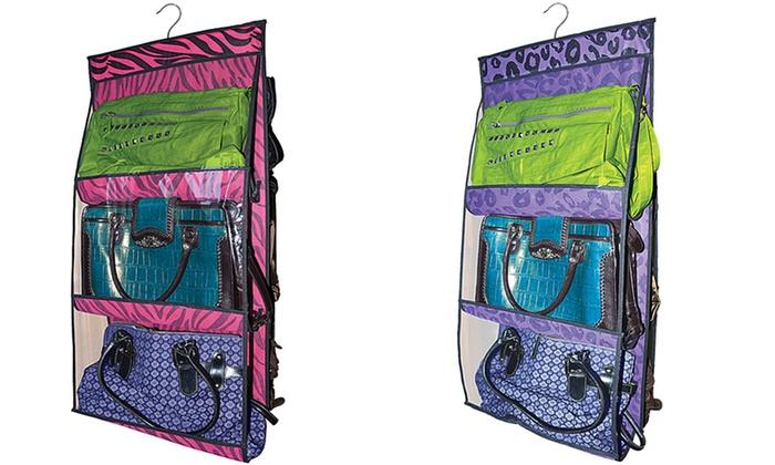 Hanging Purse Organizer: $10.99 for a Hanging Purse Organizer in Pink Zebra or Purple Leopard ($18.99 List Price). Free Returns.