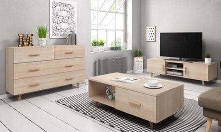 Tv meubel,ladekast en salontafel Rivano als set of los