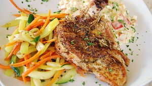 Blackjack Steakhouse: Seafood and Steakhouse Cuisine at Blackjack Steakhouse (Up to 38% Off). Two Options Available.