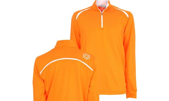 Puma Golf Men's Quarter-Zip Long-Sleeve Pullover Shirt
