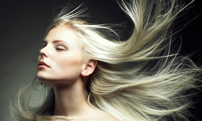 Dolce Salon - Little Italy: Haircut, Blow-Dry, and Style with Partial Shine Highlights or Full Foil Highlights at Dolce Salon (Up to 62% Off)